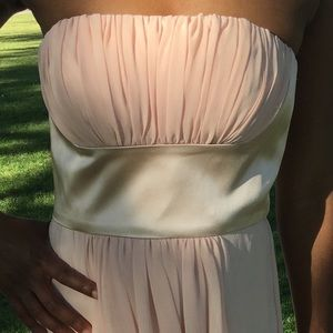 Strapless Donna Morgan formal gown